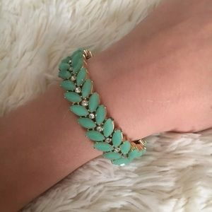 Jade floral women's accent bracelet